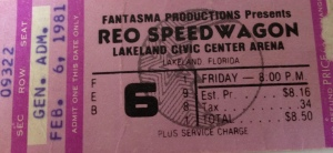 Lakeland Civic Center in Florida. $8.50. Note the ticket is pre-Ticketmaster, back when you had a great time camping out in line all night to buy tickets.