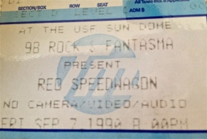 9-7-1990. USF Sun Dome, Tampa, FL. Guess I never saw REO the whole time I was in LA (not surprising). Note the