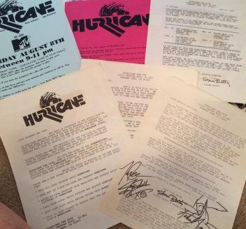 Hurricane Fan Club flyers