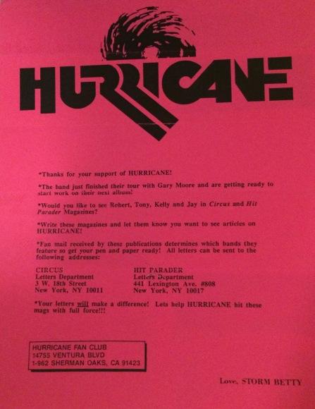 Hurricane flyer