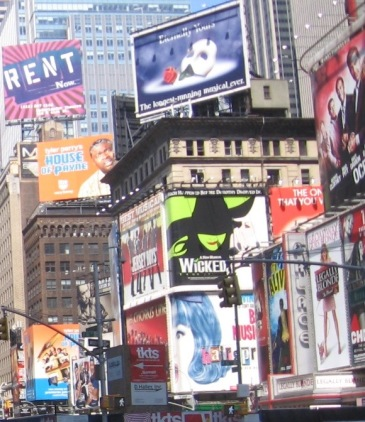 Times Square Musical Signs