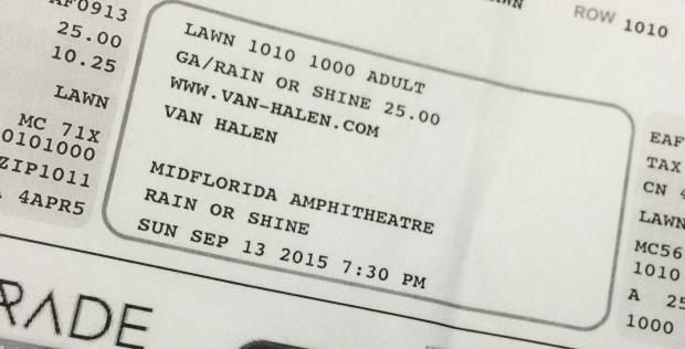 Van Halen stub 9-13-15
