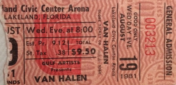 Van Halen Stub 8-19-81