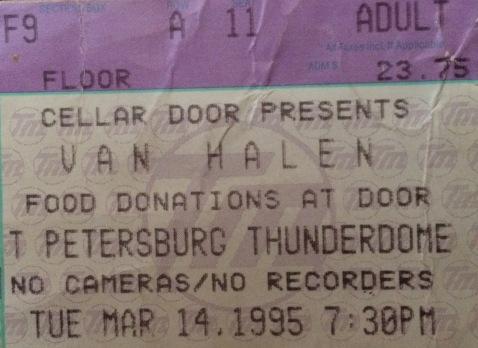 Van Halen Stub 3-14-1995