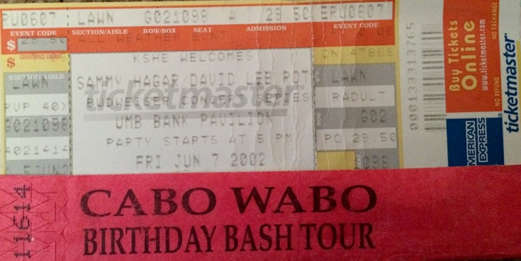 Sammy DLR Tour St. Louis Stub 6-7-2002
