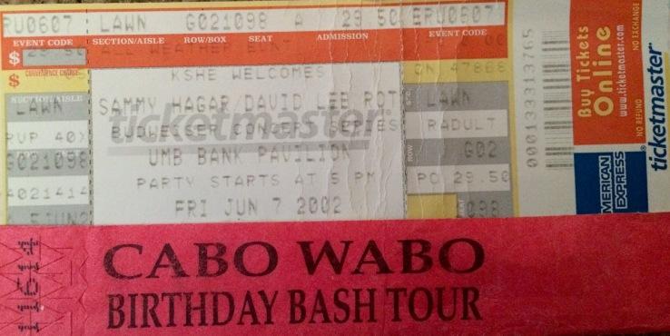 Sammy DLR Tour St. Louis Stub 6-7-2002