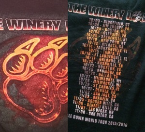 Winery Dogs t-shirt 2015