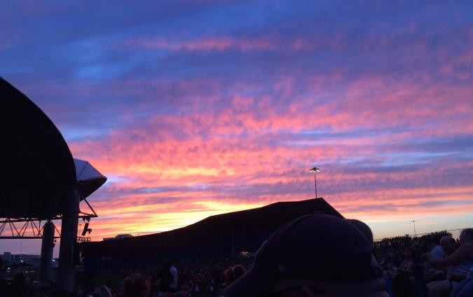 Van Halen Tampa show pretty sky