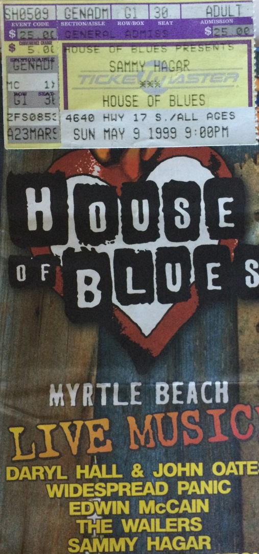Sammy Stub Myrtle Beach 5-9-1999