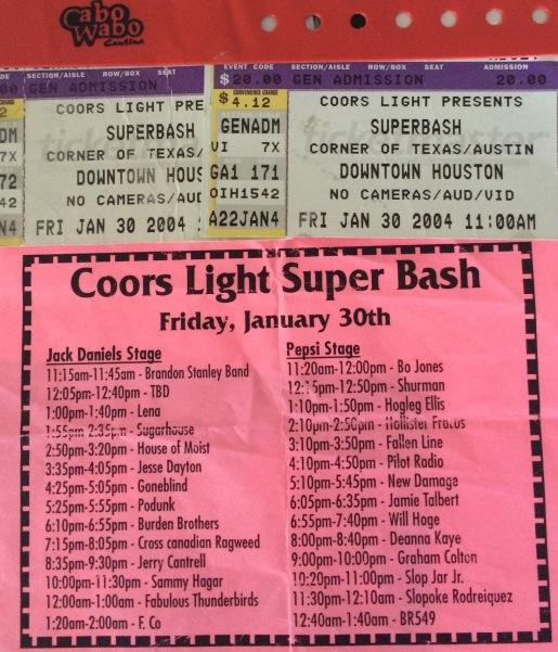 Sammy Stub SuperBowl Houston 1-30-2004