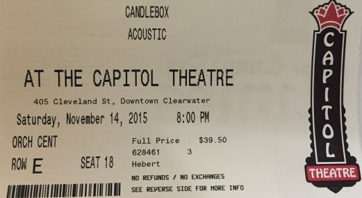 Candlebox Capitol Theater 11-14-15