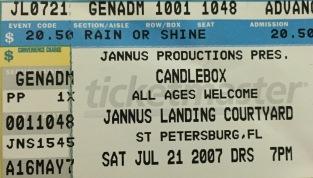 Candlebox Jannus 7-21-2007