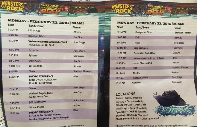 2016 MORC Monday Schedule