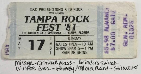 Tampa Rock Fest 5-17-1981