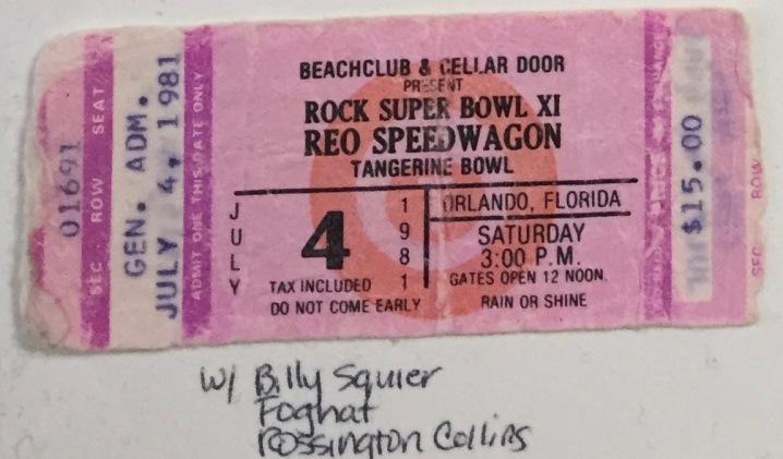 Rock Super Bowl XI 7-4-1981 Orlando, FL