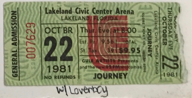 Journey stub 10-22-1981