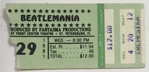 Beatlemania stub 1981