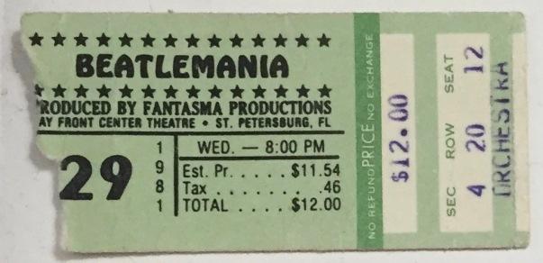 Beatlemania stub 1981