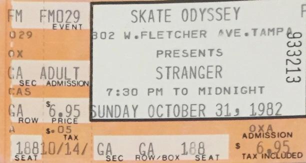 Stranger stub 10-31-1982