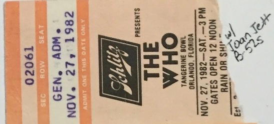The Who stub 11-27-1982