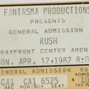 Rush stub 1982