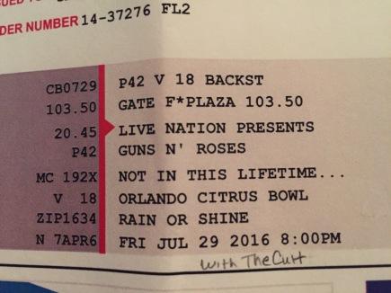 Guns n Roses Orlando 7-29-2016