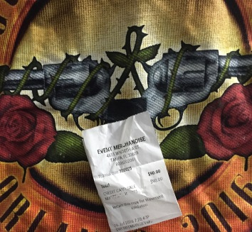 GnR Orlando Merch Receipt