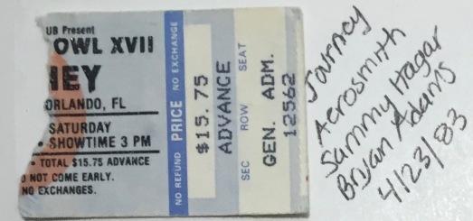 Rock Superbowl XV!! on 4-23-1983