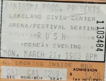 Rush 3-21-1983