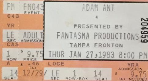 Adam Ant 1-27-1983