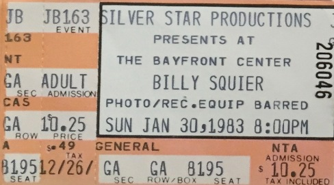 Billy Squier 1-30-1983