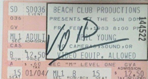 Neil Young 2-14-1983
