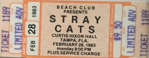 Stray Cats with the Busboys on 2-28-1983