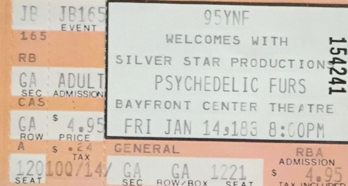 Psychedelic Furs 1-4-1983