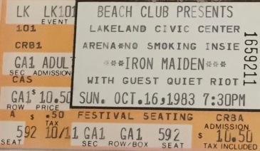 Iron Maiden 10-16-1983