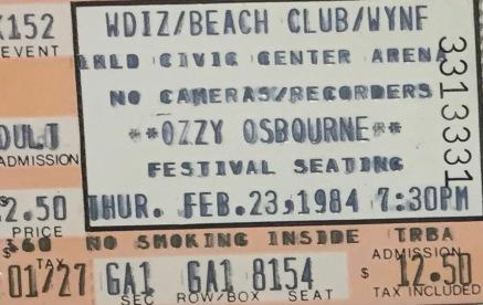 Ozzy Motley Crue 2-23-1984