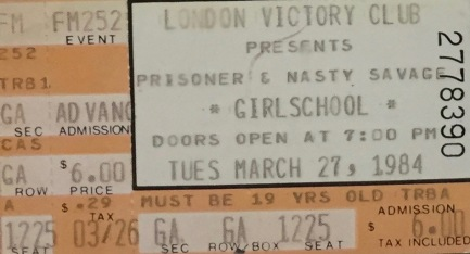 Girlschool 3-27-1984