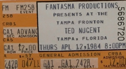Ted Nugent 4-12-1984