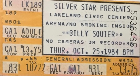 Billy Squier 10-25-1984