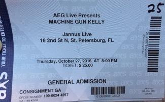 Machine Gun Kelly Jannus 10-28-2016