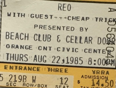 REO Speedwagon Cheap Trick 8-22-1985