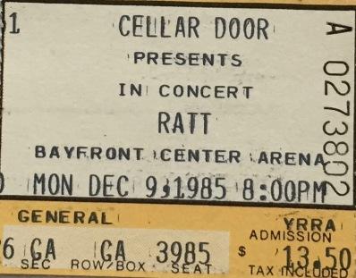 Ratt 12-9-1985