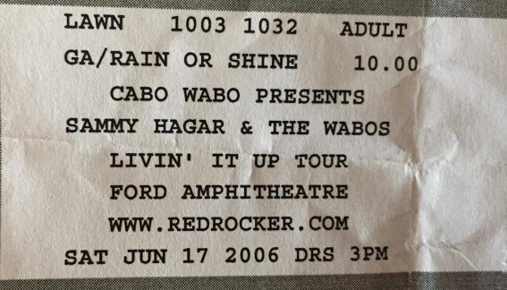 Sammy Hagar & The Wabos 6-17-2006
