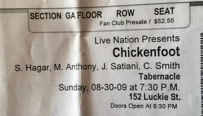 Chickenfoot 8-30-2009