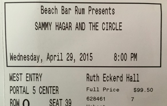 4-29-2015 Sammy Hagar & The Circle