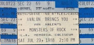 MOR Tour ticket 1988