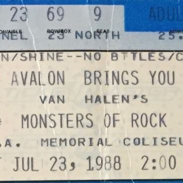 MOR Tour ticket 1988