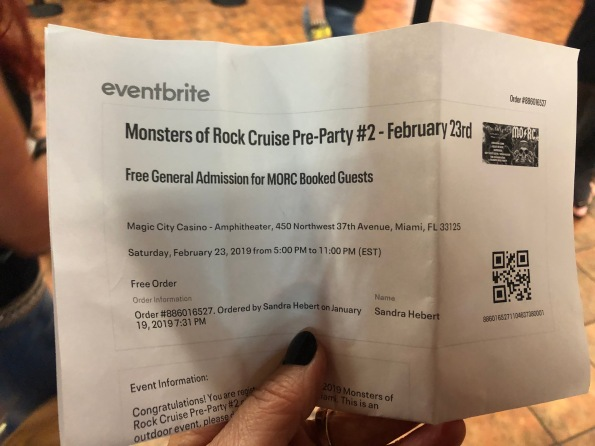 MORC Pre-Show ticket