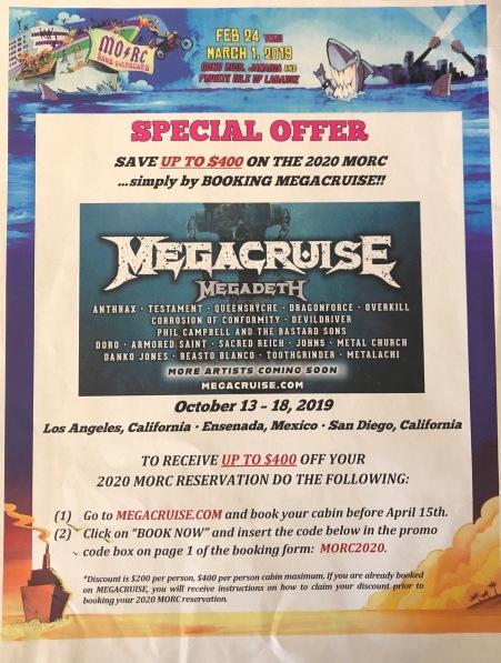 MORC 2019 Megacruise flyer