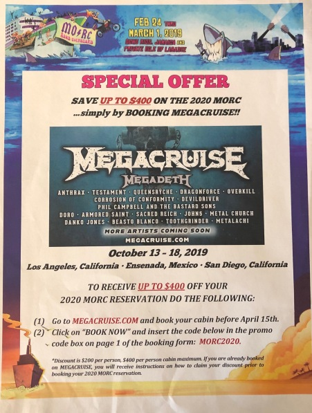 MORC 2019 Megacruise flyer